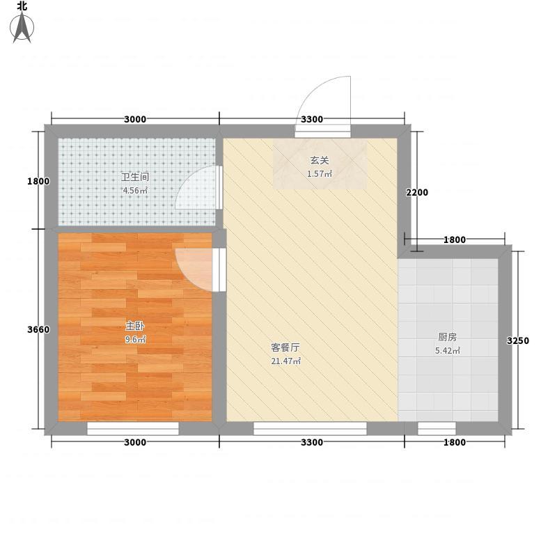 乾城多层F2户型1室1厅1卫1厨