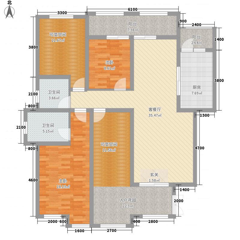 中交・锦湾4112.36㎡A户型4室2厅2卫1厨