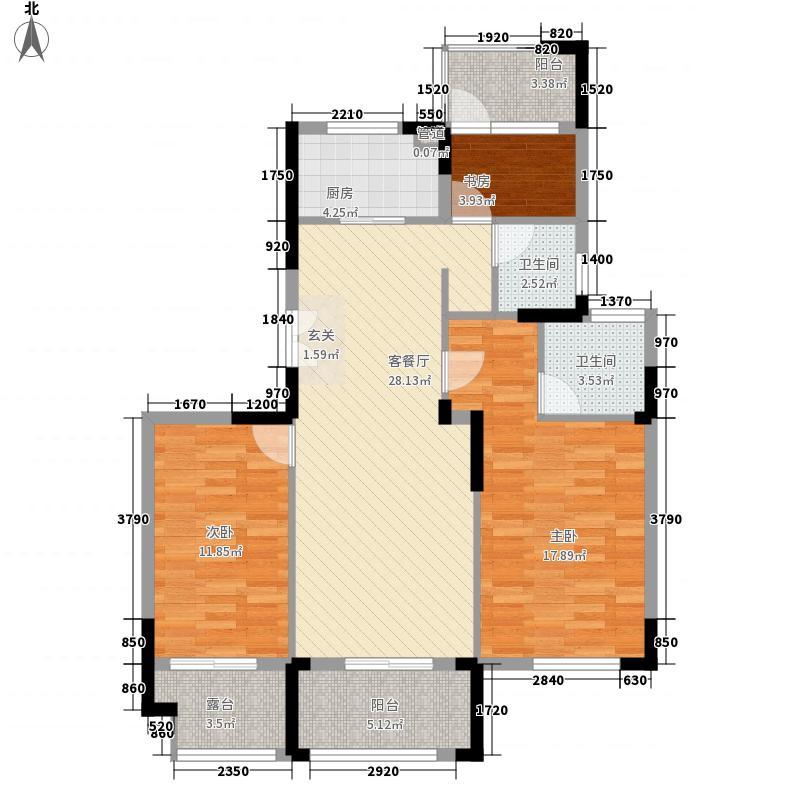 江山华府312.20㎡户型3室2厅2卫1厨