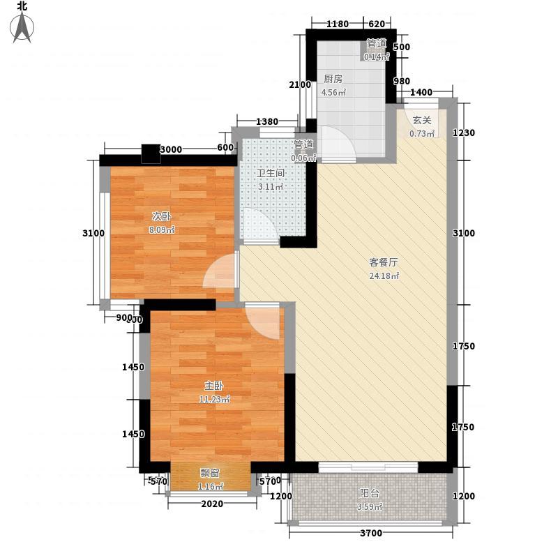 紫金山体育公园15.20㎡(2)户型3室2厅2卫1厨