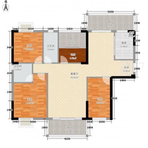 名门世家4室1厅2卫1厨115.37㎡户型图