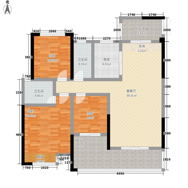 广厦名都13.50㎡户型3室2厅2卫