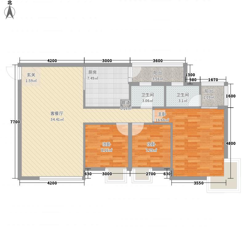 豪德银座112.10㎡G户型3室2厅