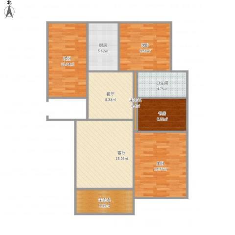 御园4室2厅1卫1厨109.00㎡户型图