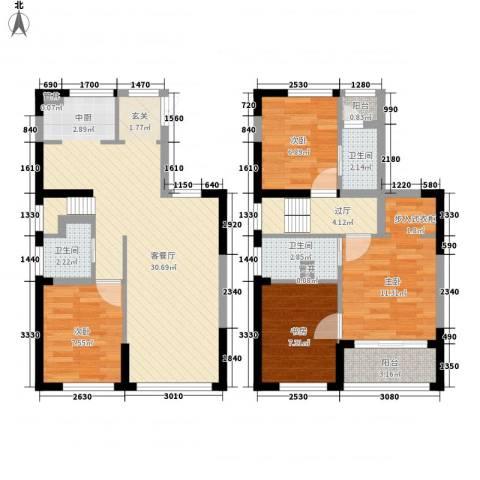 嘉饰茂装饰广场4室1厅3卫0厨79.20㎡户型图