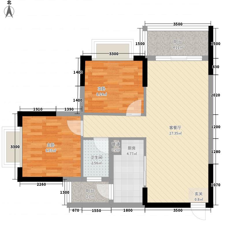 东新豪园75.00㎡户型