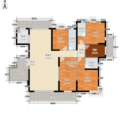 名门世家5室1厅3卫1厨216.00㎡户型图