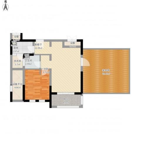 古北御庭1室1厅1卫1厨109.00㎡户型图