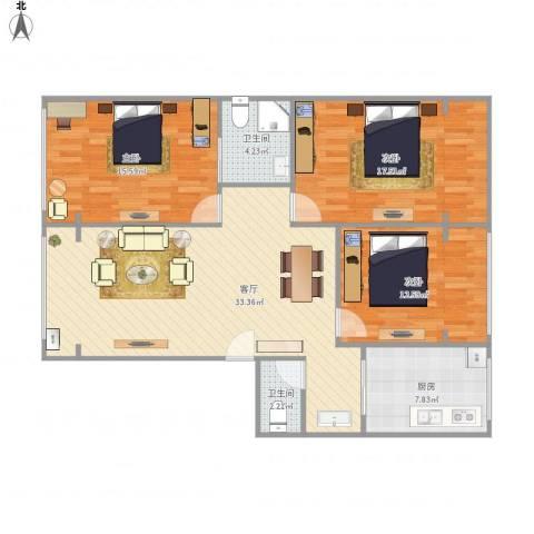 南巷子公寓C43室1厅2卫1厨125.00㎡户型图