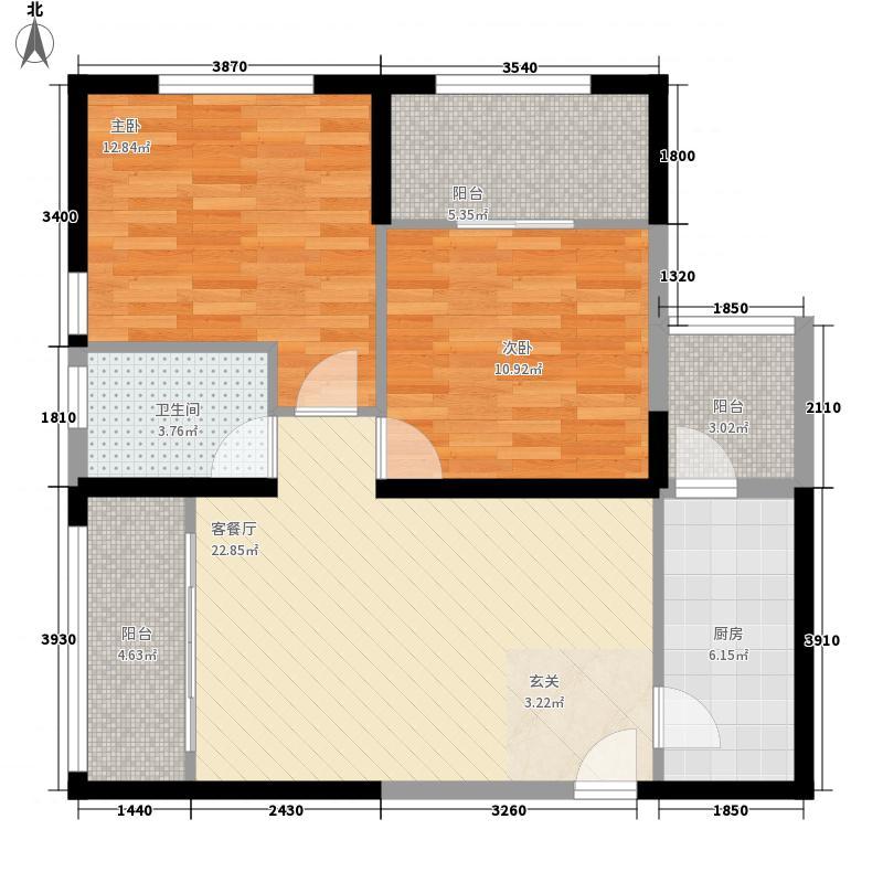 泰业国际广场2284.42㎡户型2室2厅1卫1厨