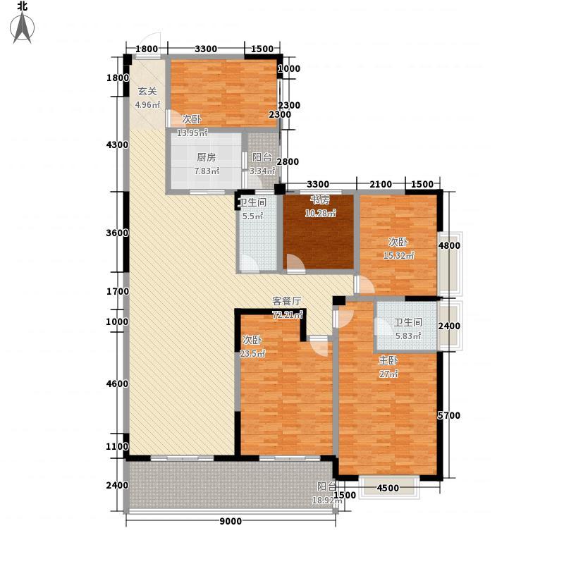 万豪・丽城14244.22㎡1#A4户型5室2厅2卫1厨