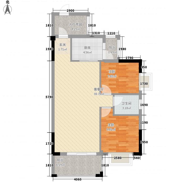 万隆丽景11483.20㎡1/14栋户型2室2厅1卫