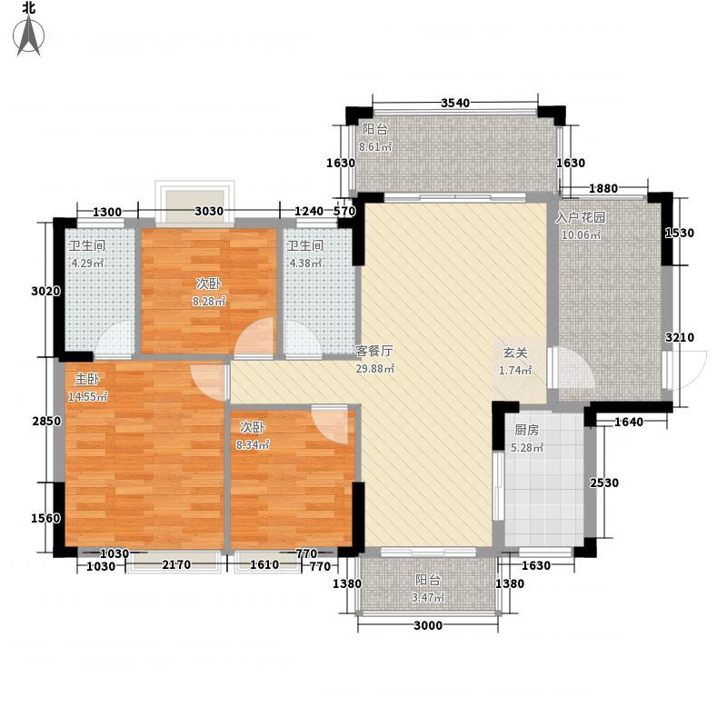 万隆丽景23115.20㎡2/3栋户型3室2厅2卫