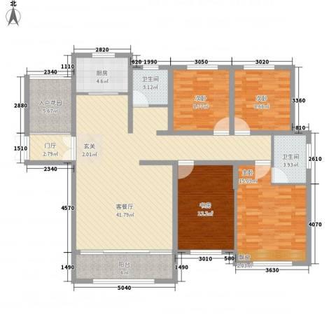 宜居・燕苑4室1厅2卫1厨162.00㎡户型图