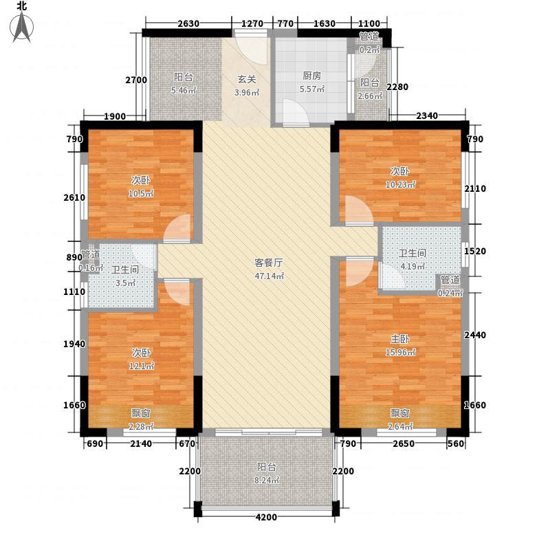兴合・半山逸城O豪华约13892m2户型4室2厅2卫1厨