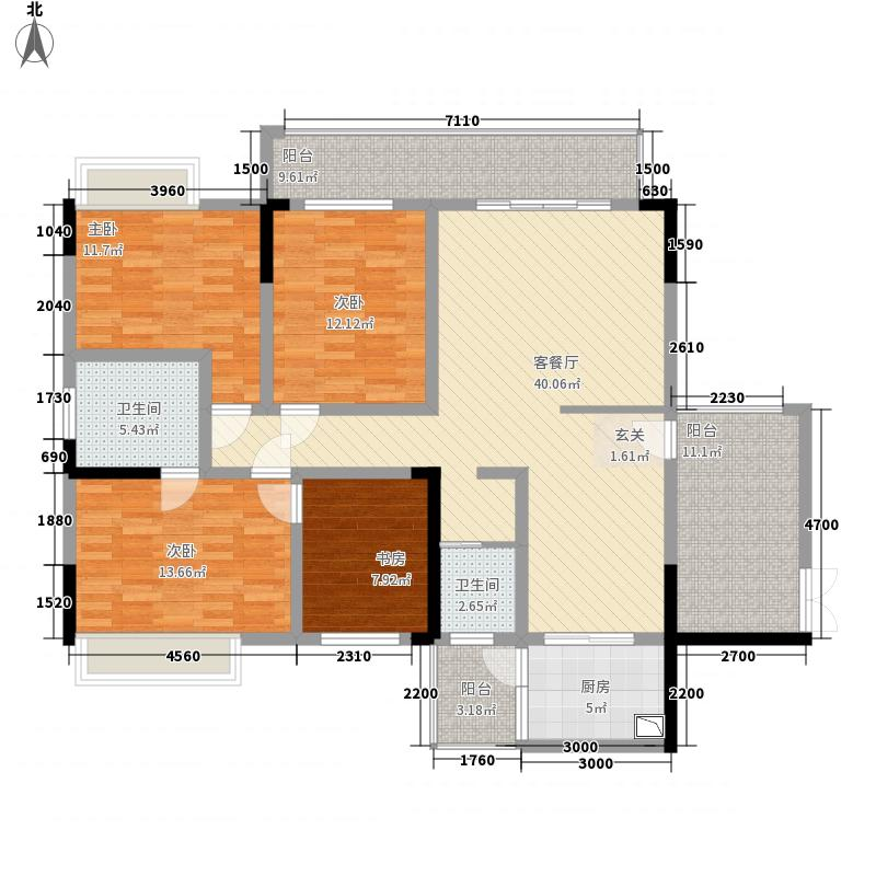 紫东公馆147.30㎡01户型4室2厅2卫1厨