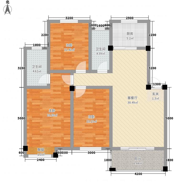 湘南国际商贸博览城115.43㎡4栋户型3室2厅2卫1厨