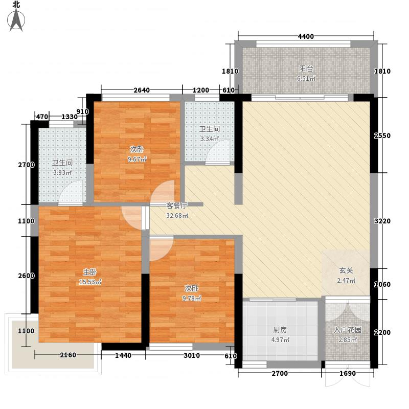 电力佳园112.13㎡B栋B1户型3室2厅2卫1厨