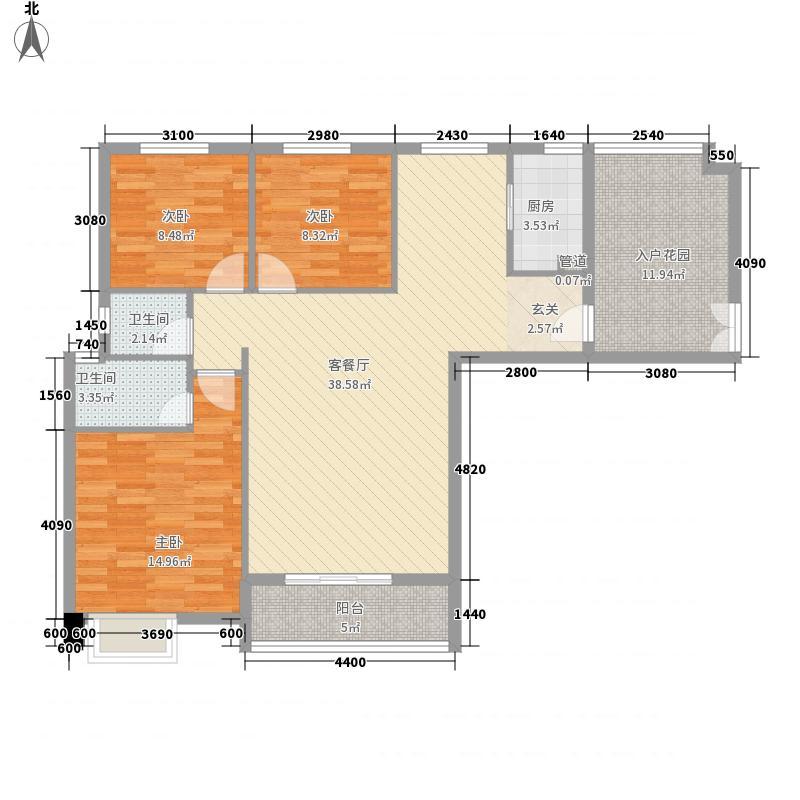 汇润・印象135.00㎡汇润户型3室2厅2卫1厨