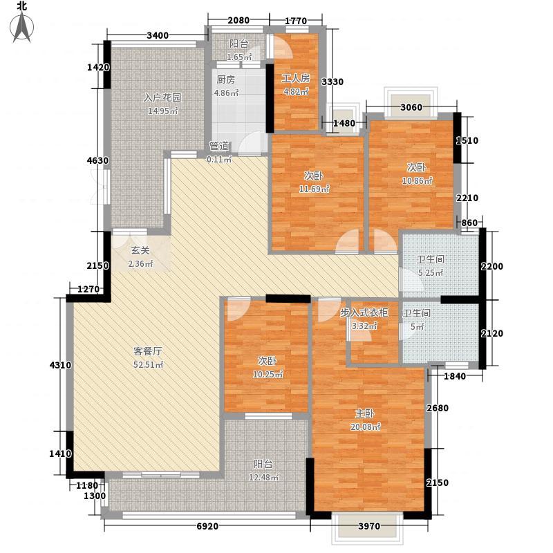 粤西明珠186.70㎡C1标准层/雍容大家户型4室2厅2卫1厨