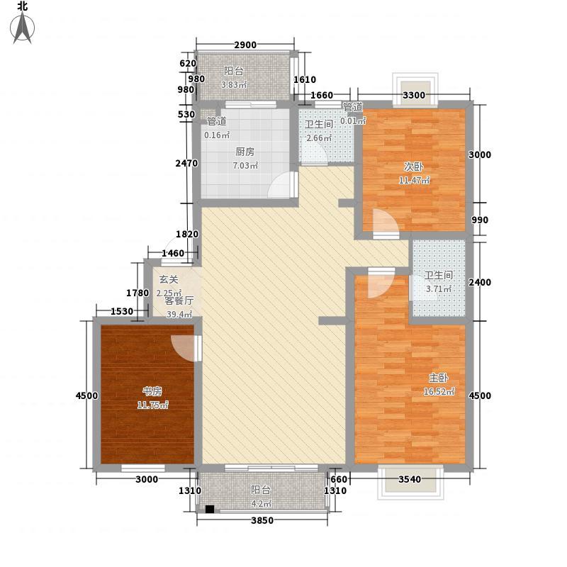 东城绿庭132.18㎡L户型3室2厅1卫1厨