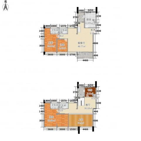 信和御园4室2厅4卫1厨254.00㎡户型图