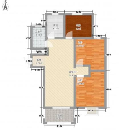 金牛小区南区3室1厅1卫1厨106.00㎡户型图