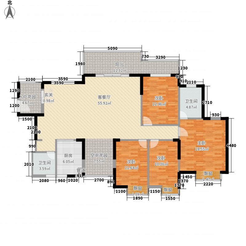 鸿润・叠韵4室1厅2卫1厨194.00㎡户型图