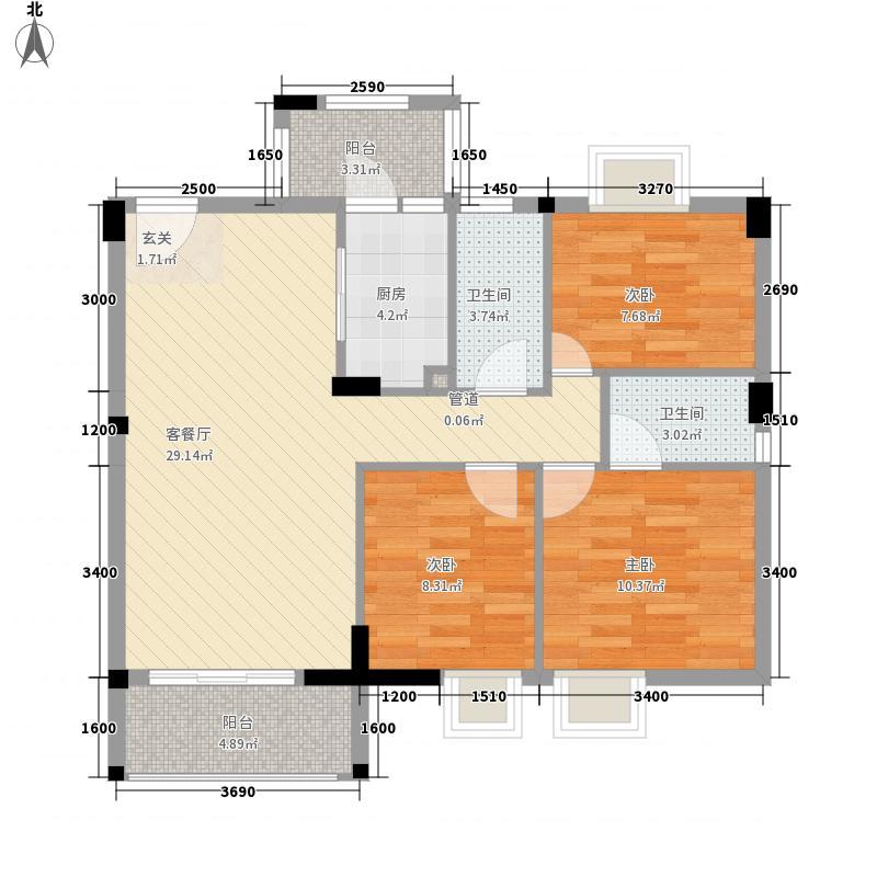 骏隆轩・幸福里8号户型3室