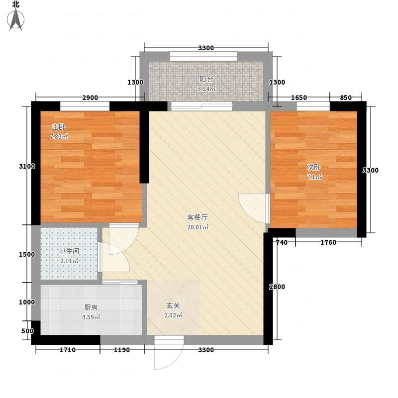 佳水豪庭322156.13㎡D户型2室2厅1卫1厨