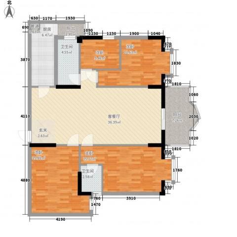安泰大厦4室1厅2卫1厨142.00㎡户型图