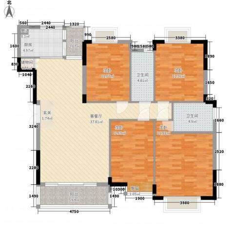 广澳大厦4室1厅2卫1厨159.00㎡户型图