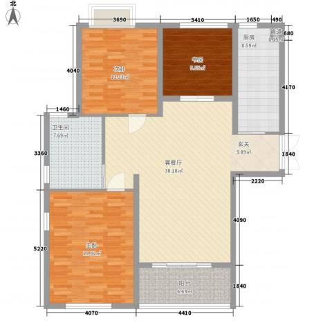 丽景苑3室1厅1卫1厨145.00㎡户型图