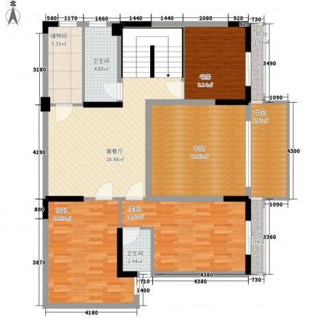 安泰大厦3室1厅2卫0厨223.00㎡户型图