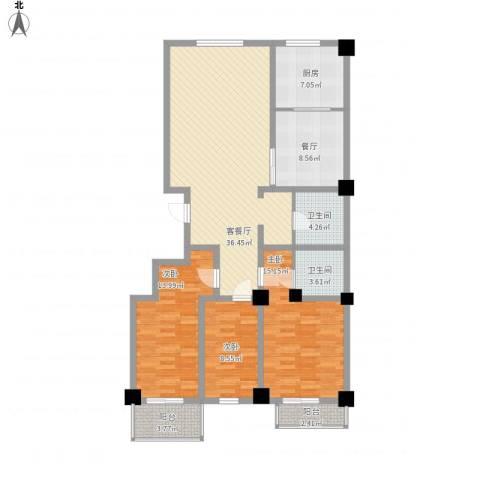 陵川信合苑3室2厅2卫1厨150.00㎡户型图
