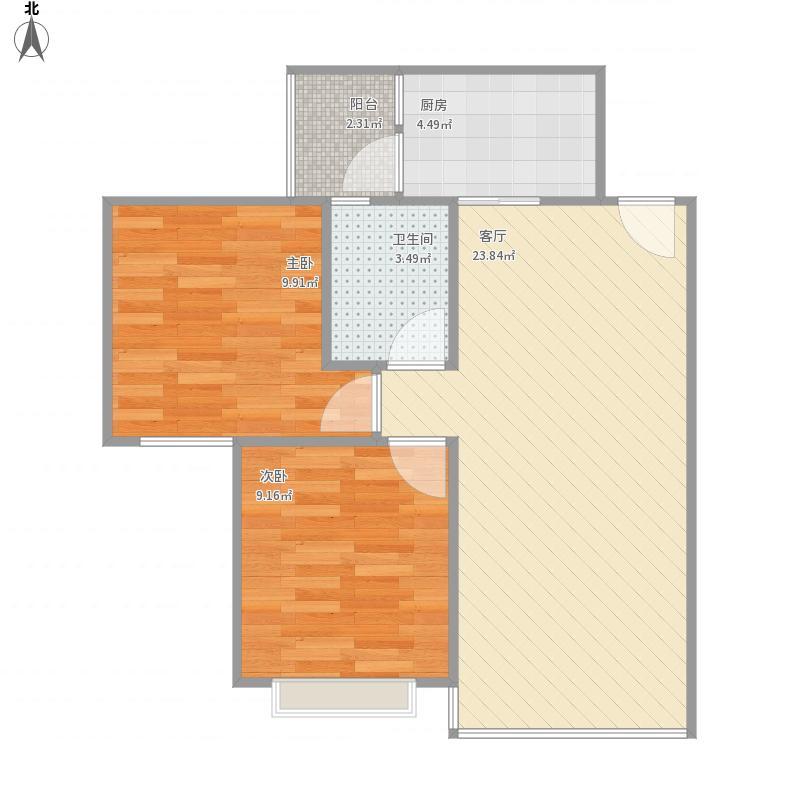 自贡_沿滩第三期安置房A型64.84_2015-09-01-1243