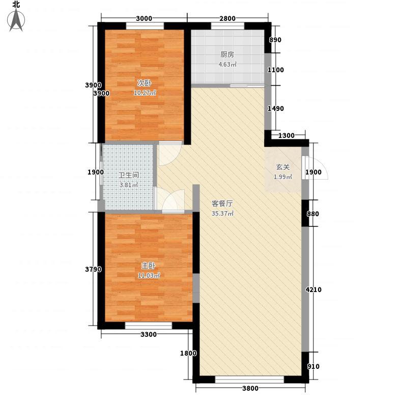 佳水豪庭122185.32㎡D户型2室2厅1卫1厨