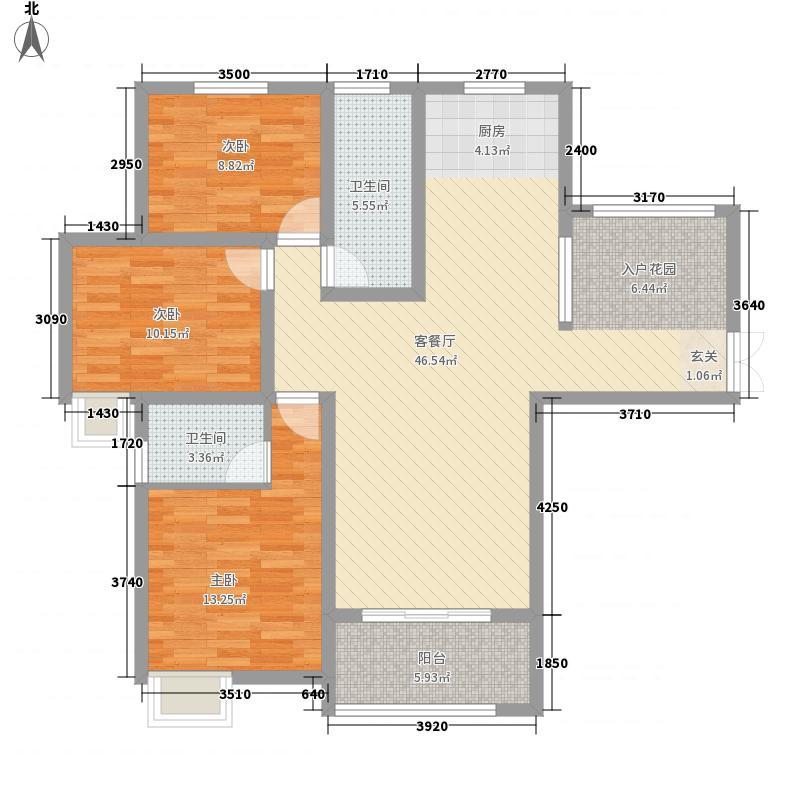 锦江・城市花园三期134.10㎡三期C户型3室2厅2卫1厨