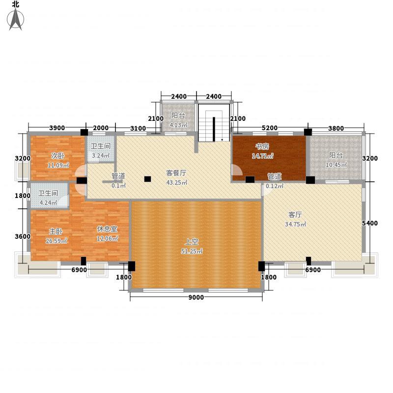福东苑441.80㎡2号楼G1二层户型