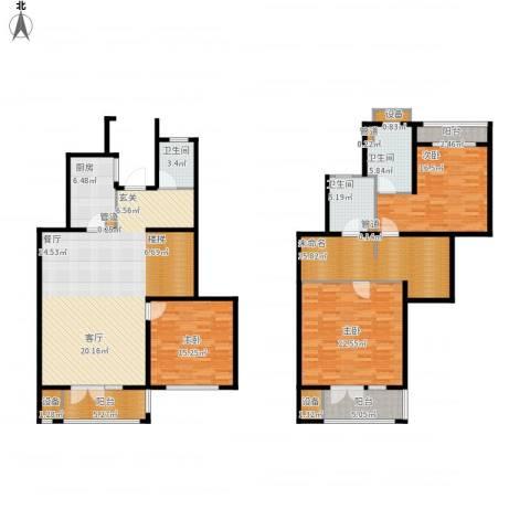 浦江颐城尚院3室1厅3卫1厨217.00㎡户型图