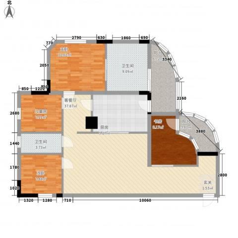 中信凯旋公馆(二期)4室1厅2卫1厨150.00㎡户型图