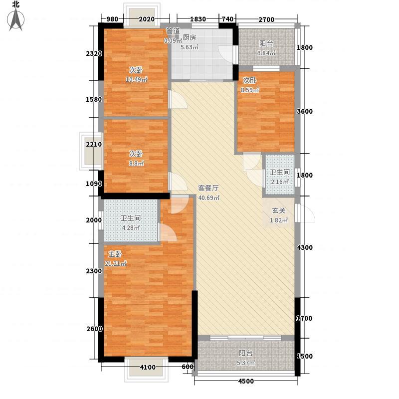 恒晖名苑137.41㎡B栋-03户型2厅2卫