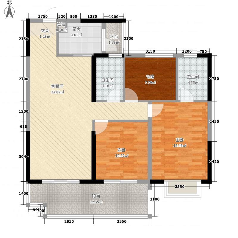 东新豪园11.00㎡5号楼05户型3室2厅2卫