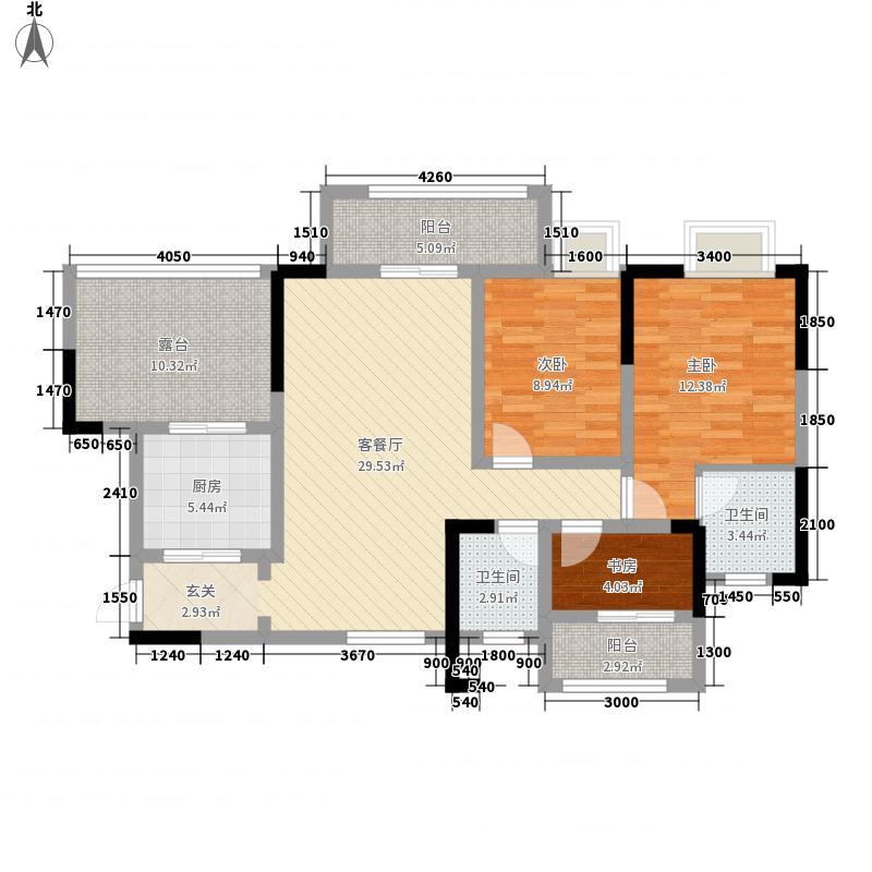 怡和盛景5311.72㎡F5户型3室2厅2卫1厨