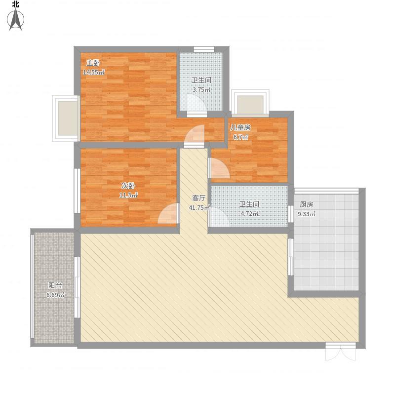 运河佳苑三室两厅一厨一卫