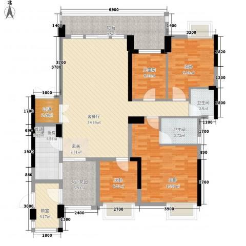 荷兰水乡四期4室1厅2卫1厨154.00㎡户型图