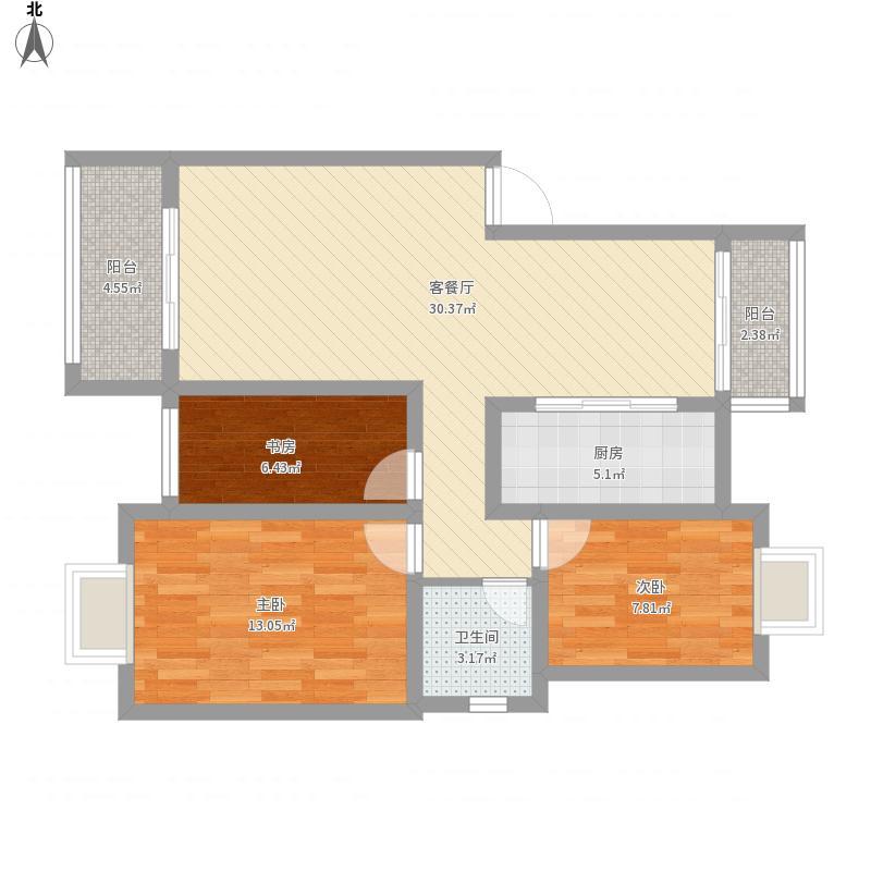 世纪华城11栋1单元三室二厅