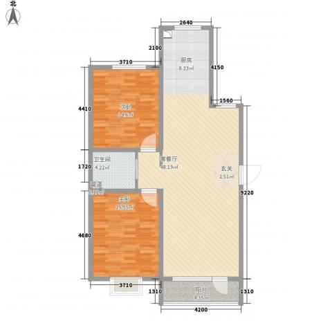 亿隆国际广场2室1厅1卫0厨122.00㎡户型图