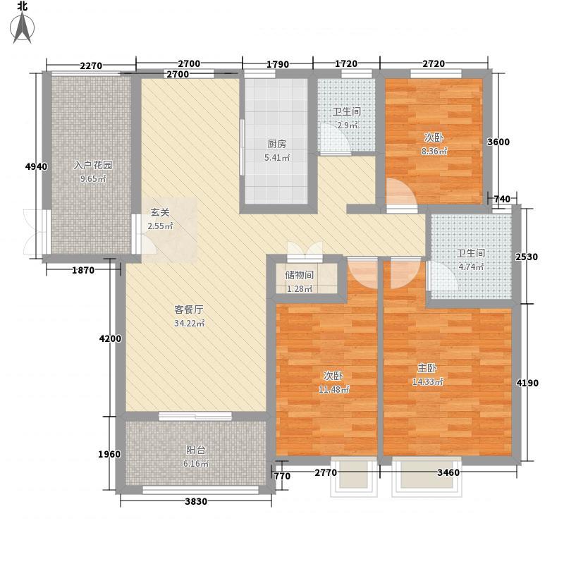 锦江・城市花园三期141.83㎡S户型3室2厅2卫1厨