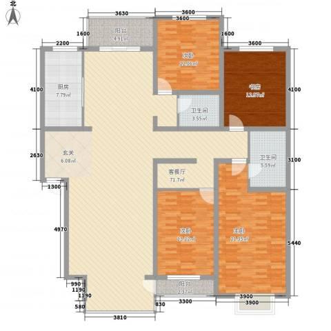 同泰花园4室1厅2卫1厨218.00㎡户型图